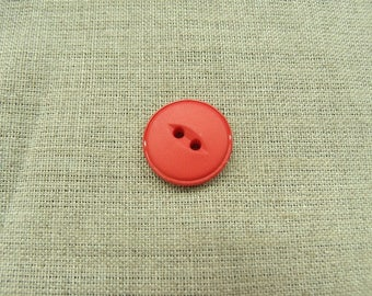 Acrylic button - 18 mm - Red