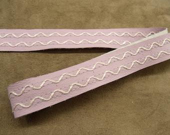 Ribbon - 2 cm - purple Leatherette