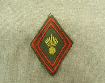 badge military sewing - Khaki, red, yellow