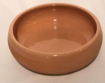 Vintage Terracotta Dish, Salsa Dish, Serving Dish, Made by Chaparral, Philippines, 1980's