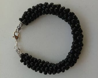Kumihimo Black Bracelet Women's Jewelry Gifts for mom Valentines day gifts for women friends sisters