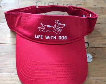 Life With Dog cotton twill visor