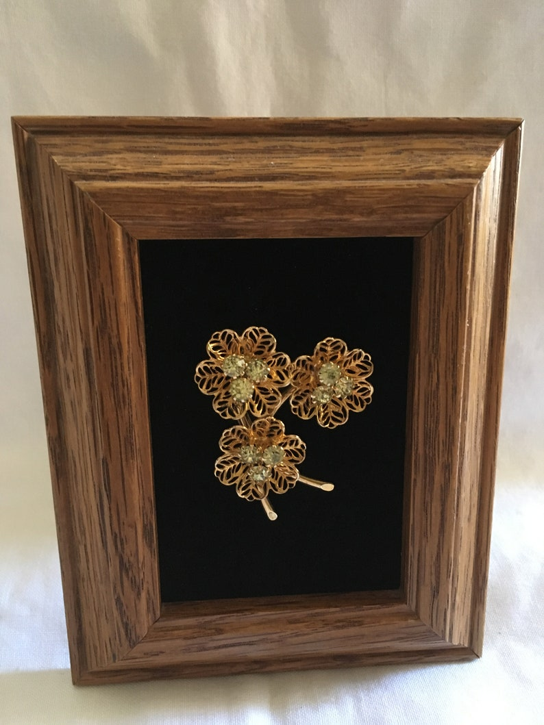 Vintage Framed Jewelry Art