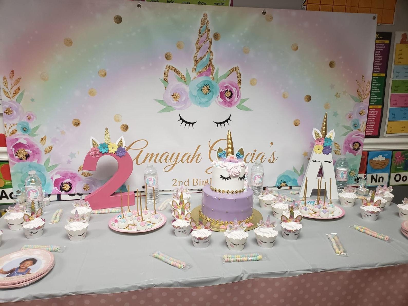 Unicorn Party Backdrops 2×6 Ft