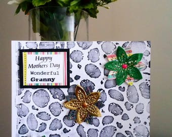 Mothers Day Handmade Card Wonderful Granny.