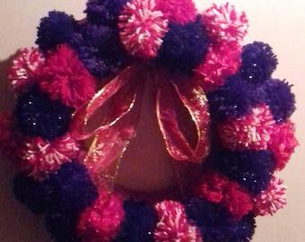 Pom Pom Wreath.