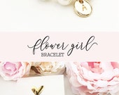 Flower Girl Bracelet Personalized Flower Girl Bracelet Pearl Flower Girl Gift Ideas Personalized Girls Bracelet (EB3277M) Bracelet for Girls photo