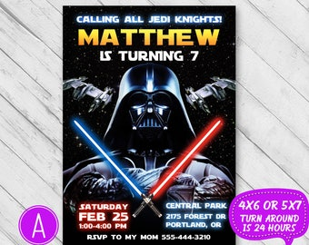 graphic relating to Printable Star Wars Invitation named Star wars invitation Etsy