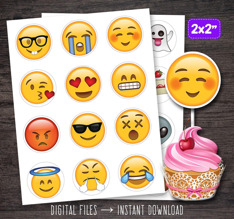 Emoji Cupcake Toppers Cupcakes