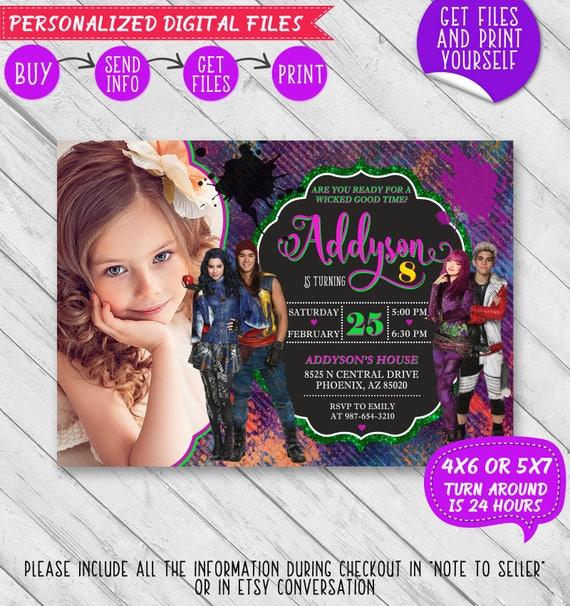 DIY Disney Descendants Invitation