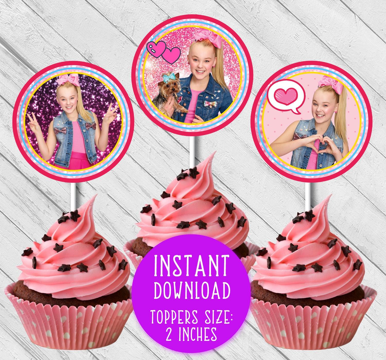JoJo Siwa cupcake toppers JoJo Siwa party JoJo Siwa ...