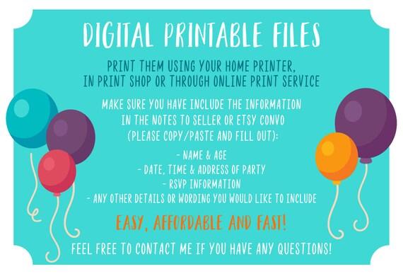 Shopkins Invitation Birthday Party Invite Printable Invites