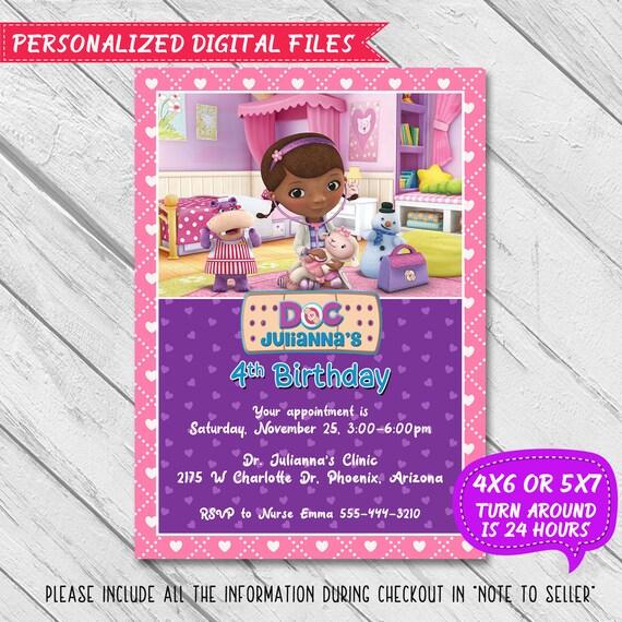 Doc mcstuffins invitation doc mcstuffins party doc etsy image 0 filmwisefo