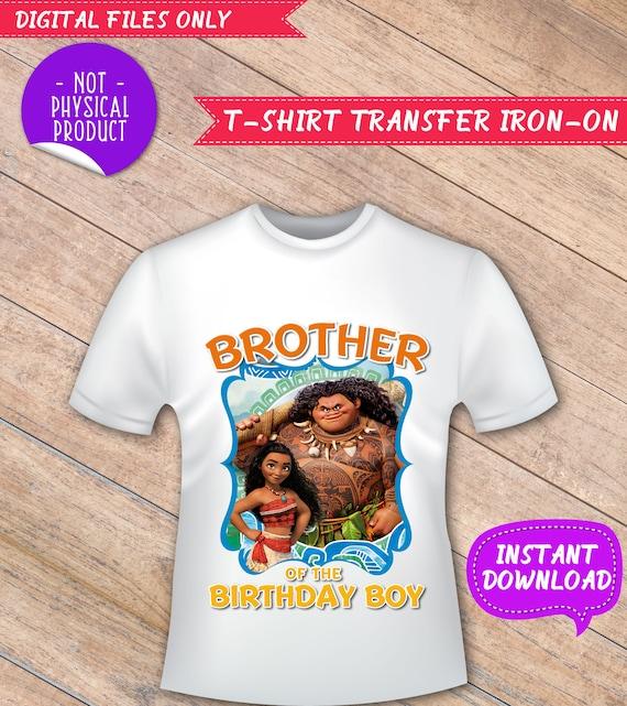 Brother Of The Birthday Boy Moana Iron On Moana T Shirt Etsy