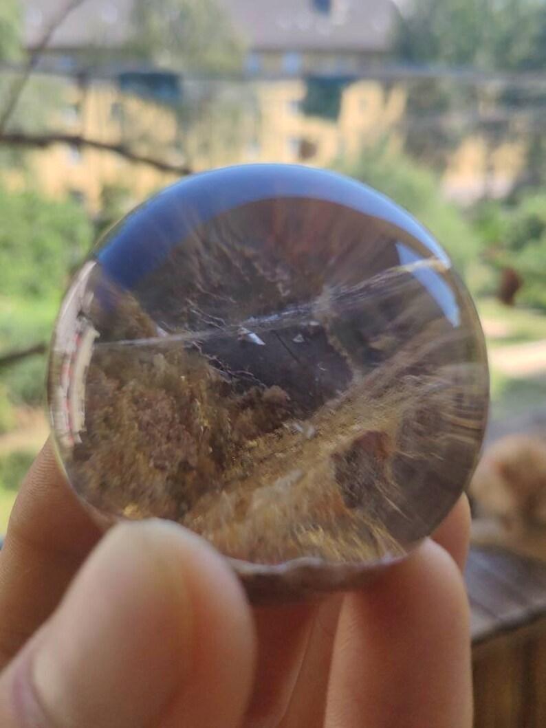 Magical Gemstone Ball Massage /& Deco Sphere Crystal Meditation GOA- Boho- Ethno-Healing Stone HIPPIE AAA Clear Phantom Quartz Red Yellow