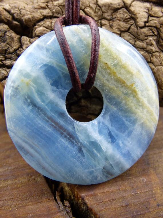 Goldobsidian 40 mm Donut ~ Gem Chain ~ HIPPIE ~ GOA ~ Boho ~ Tibet ~ Ethno ~ Nature ~ Sanctust Symbol ~ Healing Stone