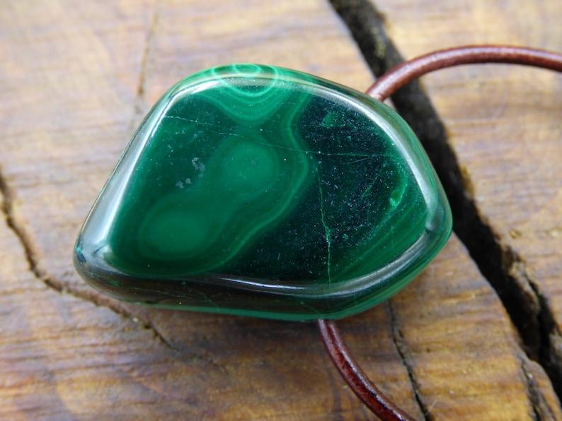 Malachite ~ Gemstone Necklace ~ Hippie ~ Goa ~ Boho ~ Ethno ~ Nature ~ Healing Stone