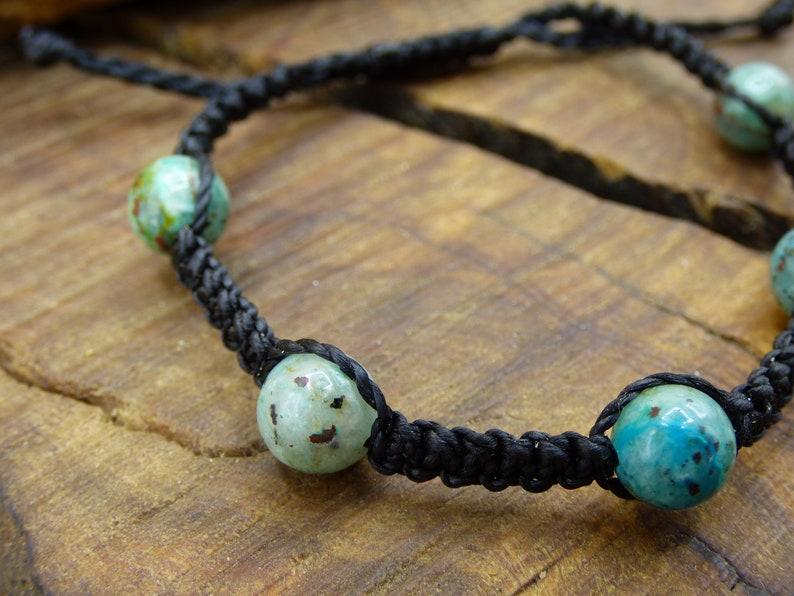 Chrysocoll ~ Gem Makramee Bracelet ~ GOA ~ Hippie ~ Boho ~ Ethno ~ Indie ~ Nature ~ Healing Stone