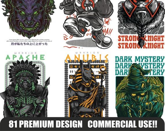81 PREMIUM DESIGN, Commercial Use, t shirt design, POD, png, eps, pdf, ai, print on demand designs