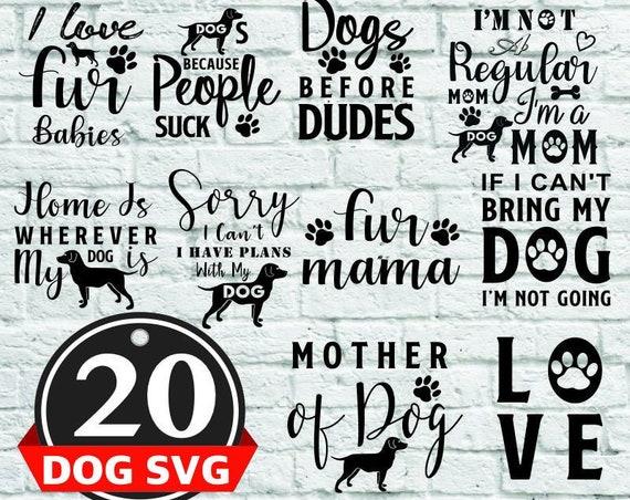 20 dog svg bundle, animal lover svg, pet mom svg, dog mom svg bundle,Cutting Files