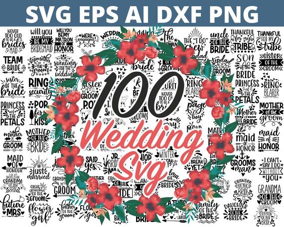Wedding svg, bride svg, wedding svg files, bridesmaid svg, mr and mrs svg, bridal shower svg , bridal party svg, groom svg, svg bundle