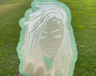 Loc'd Lady Face Tray