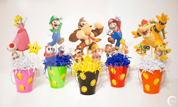 Party Favor Amscan 281554 Super Mario Brothers Table Decorating Kit