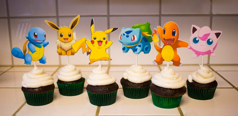 Cupcake Toppers For Business Etsy Can I Sell Pokemon
