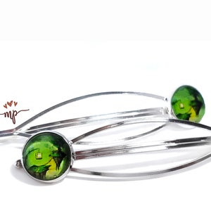 Statement Piece BarrettesHair Clips with Tree of Life Image Artist drawings from South Africa