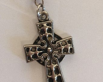 Vintage Rosary with a Celtic style cross
