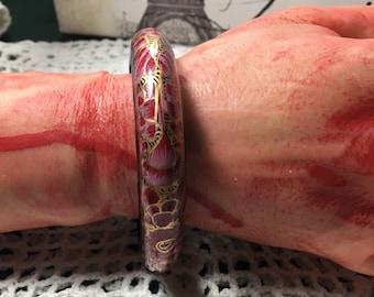 Hand Painted Bangle Bracelet