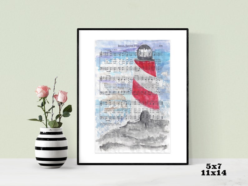 Lighthouse Wall Art LDS Home Decor Christian Hymn