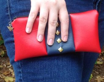 Faux Leather Wonder Woman Clutch