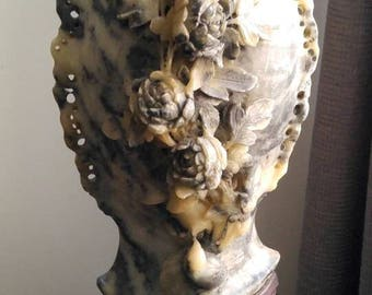 Antique Chinese Sculpted Soapstone Vase