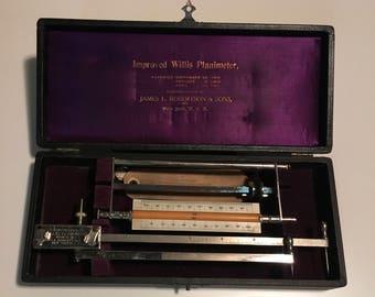 Improved Willis Planimeter Antique Gauging Device