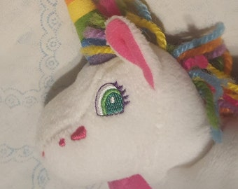 Vintage Kawaii 1998 The Fantastic World of Lisa Frank Markie the unicorn 8  inch beanie plush by Stuffins rainbow heart good condition cc73c7e5d629