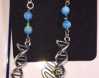 DNA Double Helix dangle earrings