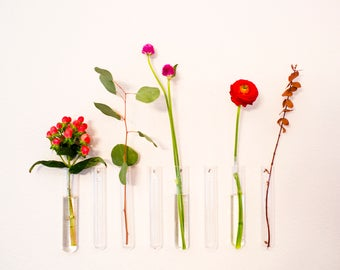 Office Decor - Accessories - Desk - Room - Wall Vase - Bud - Glass - Flowers - For Women - Trio - Minimalist
