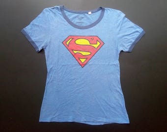 86854cfe Vintage Superman DC Comics 80s Short Sleeve Rare T shirt
