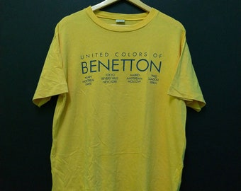 ca6a6076993 ON SALE 25% Vintage United Color Of Benetton 80s 90s Short Sleeve Rare T  shirt