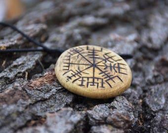Vegvisir Viking Compass Pendent Handmade