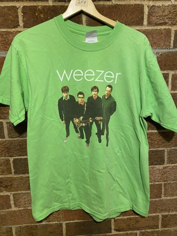 Vintage Weezer T Shirt Size Large Promo Shirt Blue