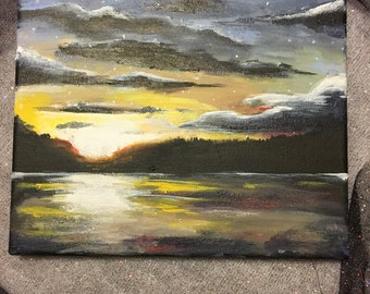 Sunset painting/ water painting