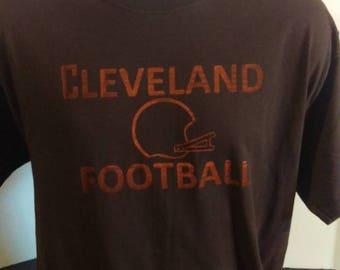 Cleveland football tee shirt