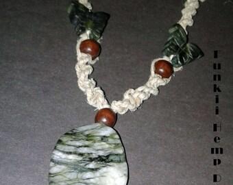 Jasper Hemp necklace
