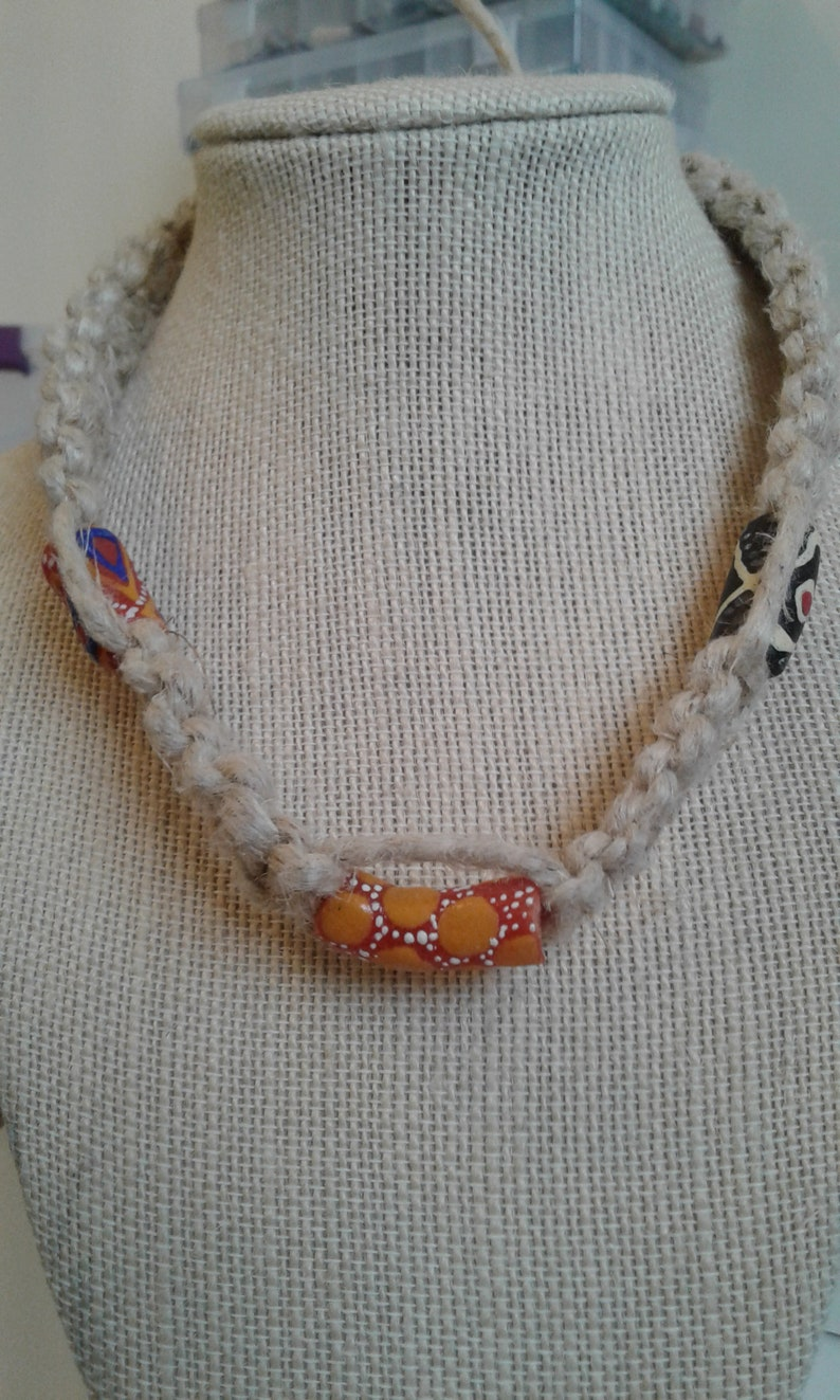Thick African Beads necklace