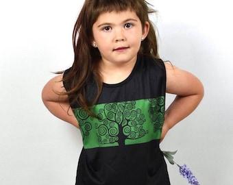 T-shirt baby kid tree Life Print-T-shirt kid girl print tree Life