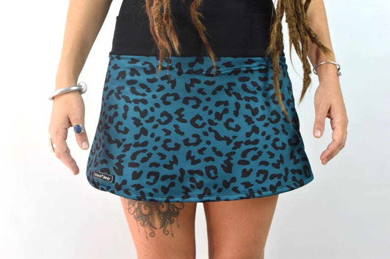 08ffab9d27 Skirt ANIMAL PRINT falda estampado leopardo azul | Etsy
