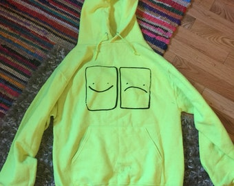 Small Smile Frown Hoodie