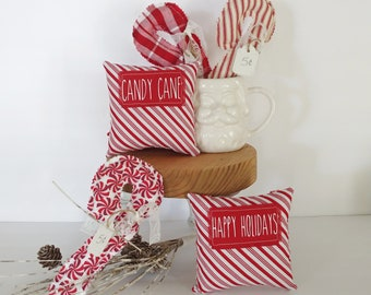 Sweet peppermint midi pillows are the perfect addition to your Christmas and winter tiered trays, hot cocoa stations, and more.